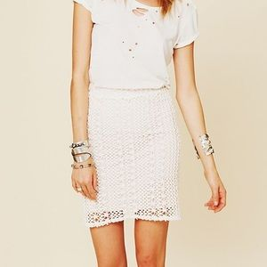 FREE PEOPLE Pin Up Pencil Skirt